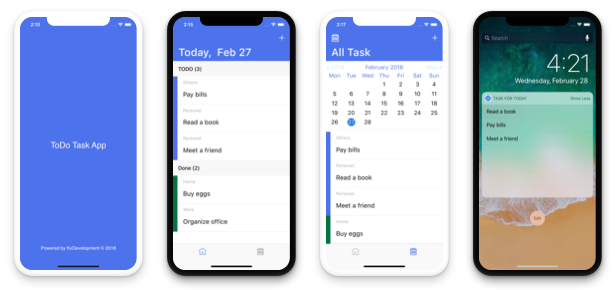 TODO App - iOS App For Task List (Local Storage) - 1